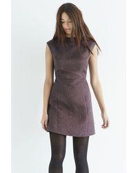 Oasis - Gray Jacquard Shift Dress - Lyst