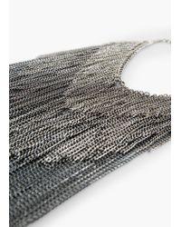 Mango - Metallic Chain Waterfall Necklace - Lyst