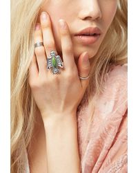 Forever 21 | Green Peyote Bird Turquoise Thunderbird Ring | Lyst