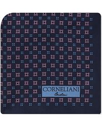 Corneliani | Blue Geometric Print Silk Pocket Square - For Men for Men | Lyst