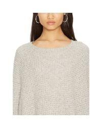 Ralph Lauren - Gray Cotton-blend Sweater - Lyst