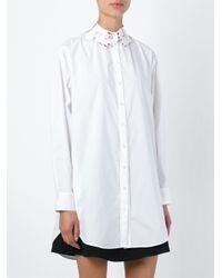 Vivetta - White 'hands' Embroidered Collar Shirt - Lyst