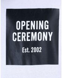 Opening Ceremony White Short Sleeve T-shirt for men