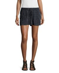 French Connection | Black Drawstring-waist Pleated-front Shorts | Lyst