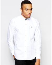 Aape White By Bathing Ape Oxford Shirt With Embroidered Logo for men