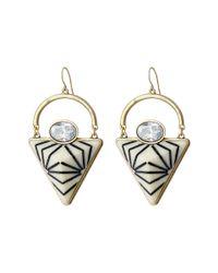 Sam Edelman | White Carved Pyramid Drop Earrings | Lyst