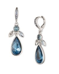 Givenchy | Blue Sugarhill Silvertone And Crystal Drop Earrings | Lyst