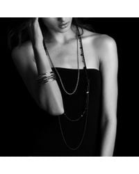 David Yurman - Bead Necklace with Black Onyx Hematine and Gold - Lyst