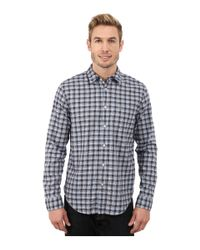 Lacoste | Blue Long Sleeve Poplin Check Woven Shirt for Men | Lyst