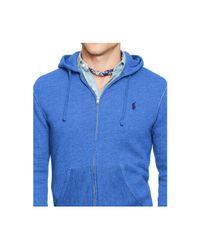 Polo Ralph Lauren Blue Full-zip Fleece Hoodie for men