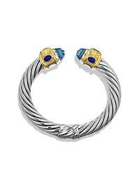 David Yurman | Renaissance Bracelet With Blue Topaz, Iolite, And Gold | Lyst