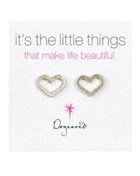 Dogeared | Metallic Its The Little Things Sterling Silver Heart Stud Earrings | Lyst