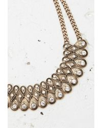 Forever 21 | Metallic Rhinestone Statement Necklace | Lyst