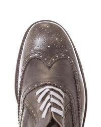 Esquivel Gray Davis Burnished Leather Brogues