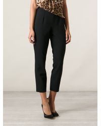 Dolce & Gabbana - Black Virgin Wool Cropped Trousers - Lyst