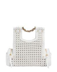 Corto Moltedo | White Priscillini Woven Leather Shoulder Bag | Lyst