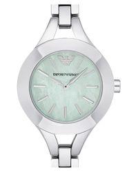 Emporio Armani - Metallic Bracelet Watch - Lyst