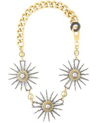 Fausto Puglisi | Metallic Sun Pendant Chain Necklace | Lyst