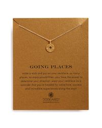 Dogeared - Metallic 'Going Places' Compass Pendant Necklace - Lyst