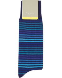 Paul Smith | Blue Tonal Stripe Socks for Men | Lyst