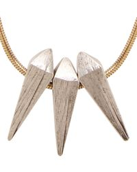Isabel Marant | Metallic Gold Spike Pendant Leon Necklace | Lyst