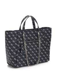 Guess | Black Nikki Logo Print Bag | Lyst
