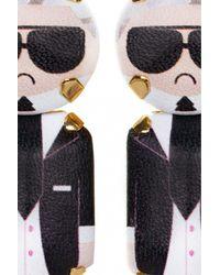 Bijoux De Famille | Black Karl Pendant Earrings | Lyst