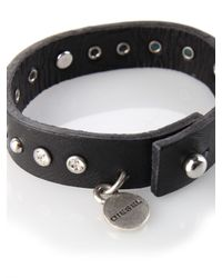 DIESEL | Black Alights Bracelet for Men | Lyst