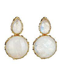 Margaret Elizabeth | White Pear Double Drops, Moonstone | Lyst
