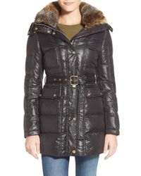 Vince Camuto | Black Down-Filled Quilted Coat | Lyst