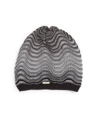 Calvin Klein | Gray Ripple Knit Beanie | Lyst