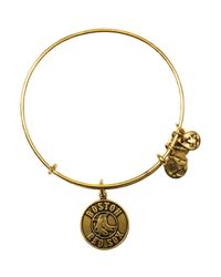 ALEX AND ANI | Metallic Boston Red Sox Logo Expandable Wire Bangle | Lyst