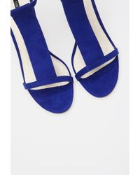 Forever 21 - Blue Faux Suede T-strap Sandals - Lyst