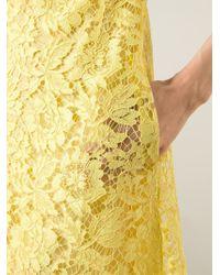 Valentino - Yellow Lace Dress - Lyst