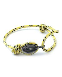 Anchor & Crew - Yellow Dash London Rope Bracelet for Men - Lyst