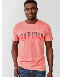 Gap Red 1969 Logo Ombre T-shirt for men