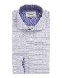 Ted Baker | Purple Checked Dress Shirt for Men | Lyst