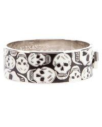 Alexander McQueen Black 'skull' Bangle