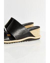 Jeffrey Campbell Black Wedge Slide Sandal