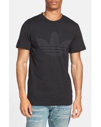 Adidas Originals - Black 'redefined Logo' Graphic T-shirt for Men - Lyst