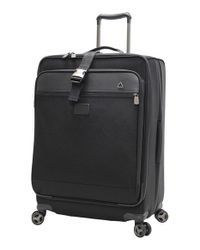 Andiamo - Black Luggage 'avanti Collection' Auto Expand Wheeled Suitcase With Garment Bag - Lyst