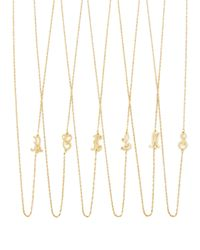 Jennifer Zeuner - Metallic 18k Gold Vermeil Mini Initial Necklace - Lyst