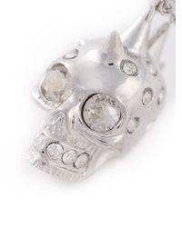 Alexander McQueen   Metallic Mohican Skull Pendant Necklace   Lyst