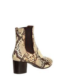 Isabel Marant Metallic 50mm Danae Python Printed Leather Boots