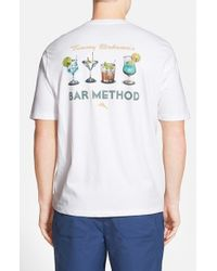 Tommy Bahama | White 'bar Method' Short Sleeve T-shirt for Men | Lyst