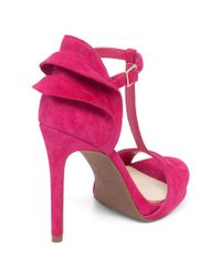 Jessica Simpson | Pink Rayanna Suede T-strap Heels | Lyst