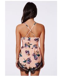 White Floral Lace Bodice Playsuit by Showpo | UsTrendy