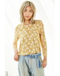 Kimchi Blue Brown Canyon Popover Top