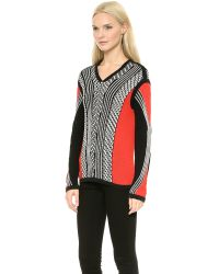 Ohne Titel Ottoman Roll Pullover Red