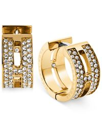 Michael Kors | Metallic H Huggie Hoop Earrings | Lyst